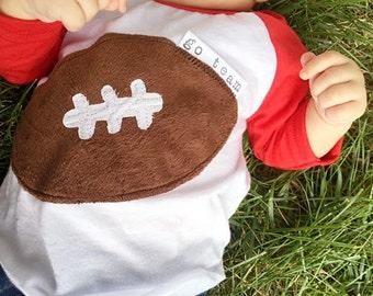 "Swanky Baby ""Go Team!"" Football Tee or Bodysuit"