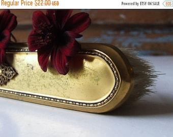 ON SALE Vintage Golden Hairbrush Vanity Dresser