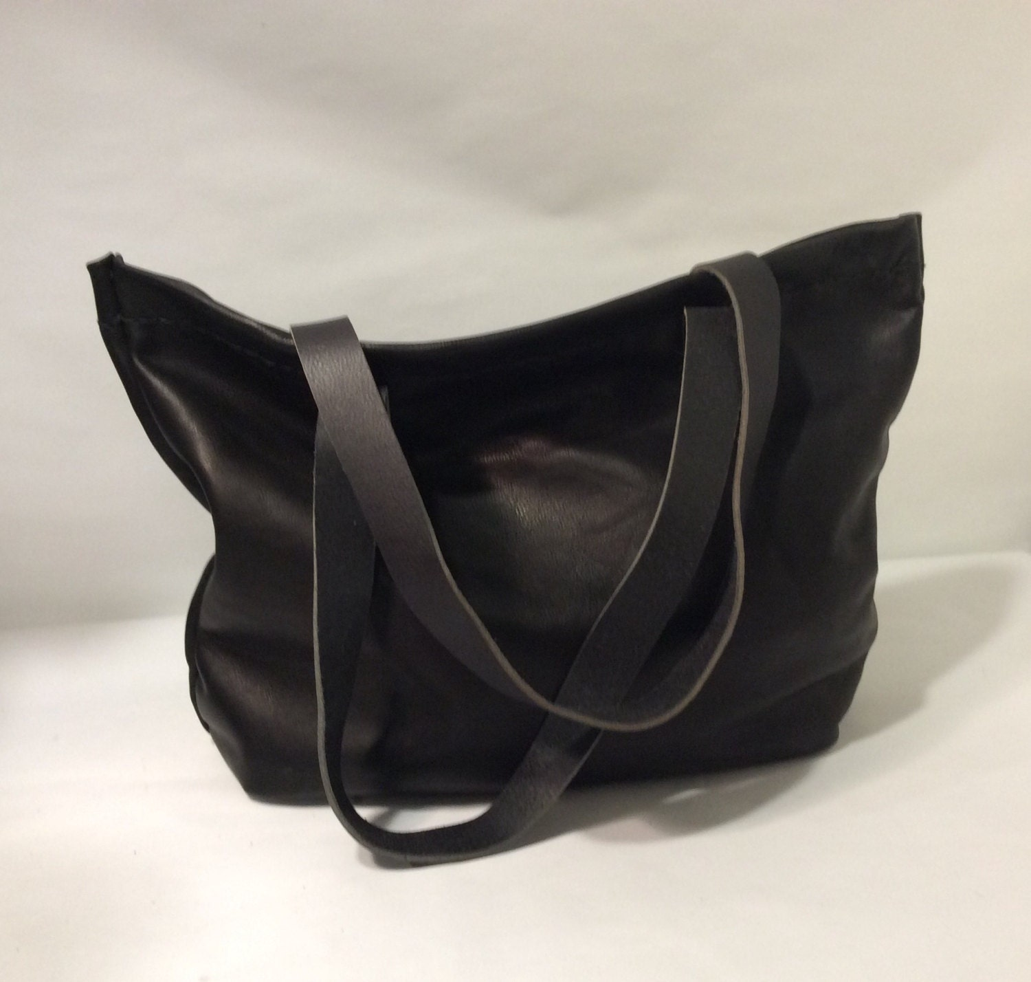Black Leather Tote Bag,Black Leather Large And durable Leather Handbag