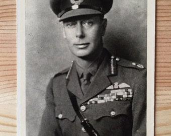 Vintage English Postcard - King George VI -1945 - British Royal Family - Father of Elizabeth II - Collector - Wall Decor - Military Postcard