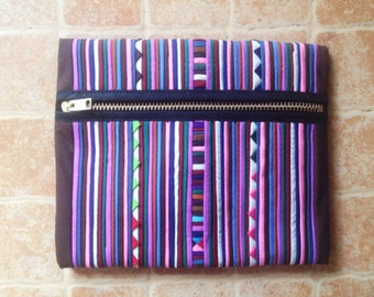 SALE Handmade zippered pencil case