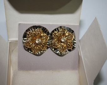 Avon Precious Reflections Convertible Earrings, New Vintage 1988
