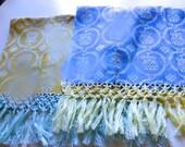 Pair of Mint Fringed Bellino New York Tea Towels