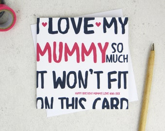 Funny Mummy Birthday Card - personalised card - card for Mummy - birthday card - funny card - Mummy birthday - uk - Mother - Mum
