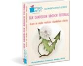 Dandelion tutorial, silk dandelion clock tutorial, dandelion template, fabric dandelion brooch, handmade dandelion clock, textile brooch