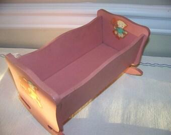 vintage cradle fits 8 inch dolls