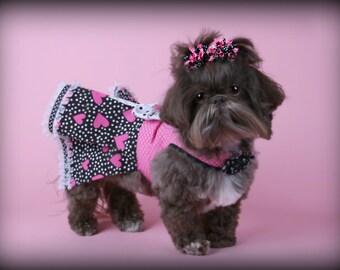 VALENTINE:  Be Mine Heart Dog Dress