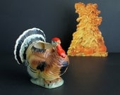 Vintage Thanksgiving Turkey Large Planter By Relpo Vase Fall Holiday Decoration No. 5293