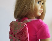 "American Girl Doll Clothes; Doll Backpacks;  18"" Doll Backpacks; Stuffed Animal Backpack; Backpack"