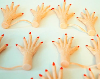 Vintage creepy monster hands - you get three pairs