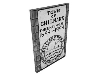 Town of Chilmark Sign Photo Canvas, Menemsha Martha's Vineyard Photography, Man Cave, Beach House, Wall Art Decor, Large Canvas Print