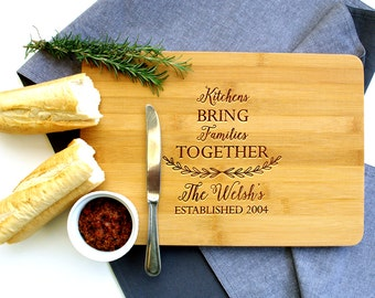 Personalized Cutting Board, Custom Cutting Board, Housewarming gift, Family Kitchen