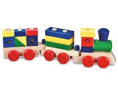 Dog, Number 1 and a Block Train