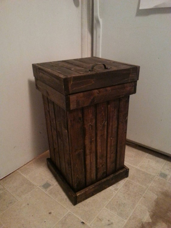 wooden kitchen garbage can wood trash bin kitchen garbage