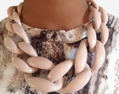 Chunky Link Necklace Nude Necklace