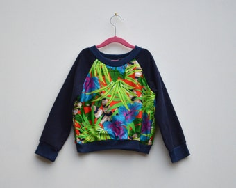 Upcycled Tropical Kids Jumper