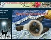 Mixed Cats Calendar 2017 from originals by Irina Garmashova