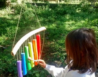 Wooden Rainbow Xylophone