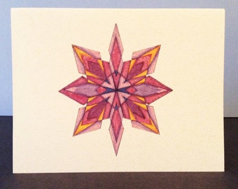 Snowflake 2, Single Blank Greeting Card - Set of 10