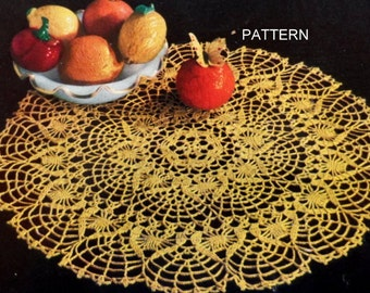 Thread Crochet Doily Pattern, Lace Table Mat, Cotton Doily Pattern
