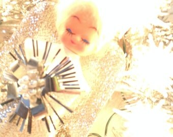 Vintage Lighted Christmas Angel Tree Topper