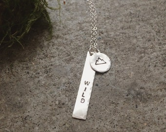 Sterling Wild Mountain Necklace