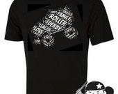 Roller Derby Skate Cloud T-shirt