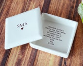 Unique Mother of the Groom Gift - Monogrammed Square Keepsake Box -  With Gift Box