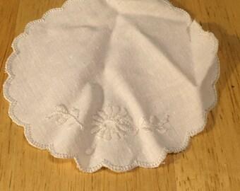 Small White on White Applique