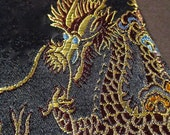 Old All Silk Dragon Embroiderd Purse Like New