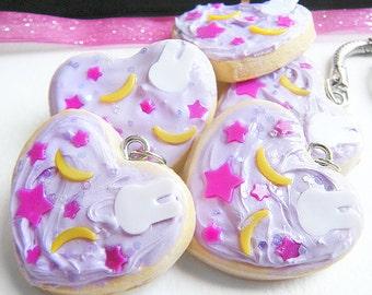 Kawaii Decoden Magical Girl/ Kawaii Usagi /purple bunny,star,moon blanket inspired/iced and sprinkled sugar cookie choker & MORE