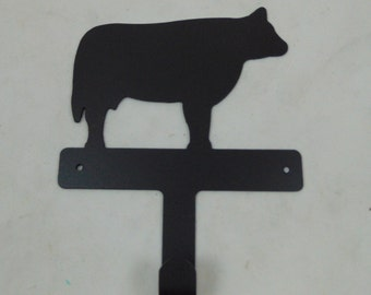 """Metal """"Moo"""" Cow Hook"""