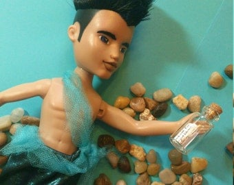 The Merman of the Quest Doll, repaint makeunder + ooak