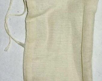 "1 Cotton Tea Bag 3"" x 5"""