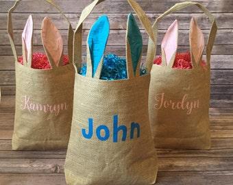 Easter bunny bag etsy burlap easter bunny bags bunny bags personalized bunny bags personalized easter basket negle Choice Image
