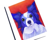 Watercolor Dog CardsWatercolor Papillon Card Blank Greeting Card Set With Envelope Blank Note Card Set Thank You Card Dog Note Card