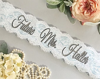 Lace Bachelorette Sash - Bridal Shower Gift for Bride - Sash ***Design Your Own Sash***