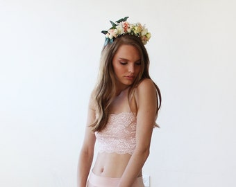 Flowers headpiece, Bridal flowers hair accessory, Wedding hair accessory 4010