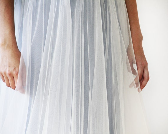 Light Gray Bridesmaid Dresses Knee Length Soft Tulle: Light Grey Tulle Maxi Skirt Long Bridesmaids Tulle By