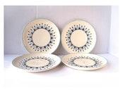 Vintage SET of Marcrest Swiss Alpine Dinner Plates (4 in a set)