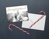 Luminous Gold Photo Christmas Card - Digital File
