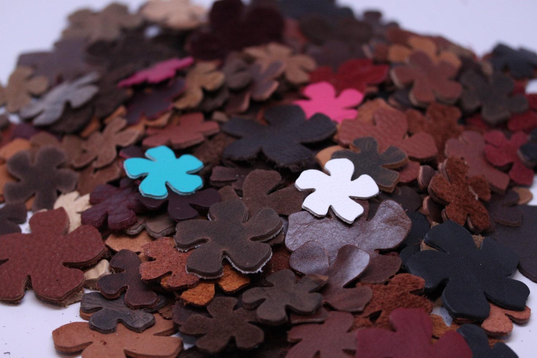 Leather flowers for crafts headbands bracelets for Leather flowers for crafts