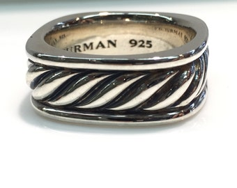 Pre-Owned David Yurman Cable Classics Square Ring