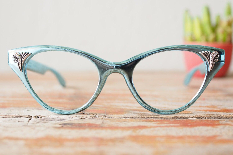 Unique Cat Eye Glasses Frame Vintage : Vintage Eyeglasses Cat eye Frames glasses 1960 s All ...