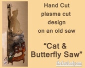 Metal Art Cat and Butterf...