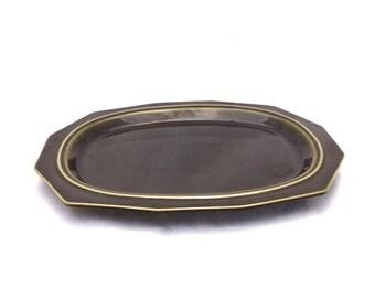 Vintage 70s Dark OLIVE GREEN Pfaltzgraff Serving Platter