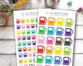 Gas Pumps, Set of 24 or 70 - Perfect for Erin Condren, Limelife, Mambi and Plum Paper Planners