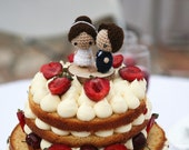 Wedding cake topper custom dolls, personalized dolls, made to order, customized wedding gift