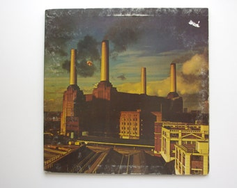 Pink Floyd - Animals Vinyl Record - 1977 - Original Lyric Liner Included - Roger Waters, David Gilmour - Pigs - Psychedellic - British Music