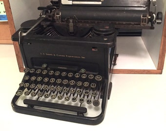 L.C. Smith and Corona Typewriter Model No. 11 - 1930's Typewriter